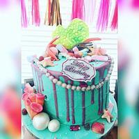 Mermaid theme drippy, sweetie cake