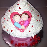 I love you cake by Cake Boutique Monterrey