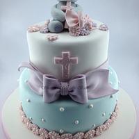 Tatty Teddy Christening Cake