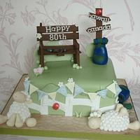 Joint 80th birthday & welcome home cake