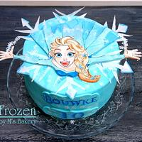 Handpainted Frozen Cake