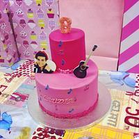 Pink Music Cake