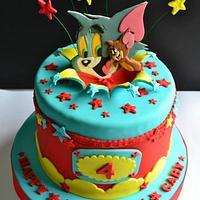Tom & Jerry All-Star Birthday Cake