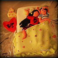Funny bed cake