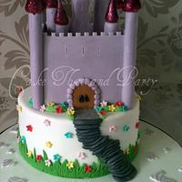 pretty castle two tier