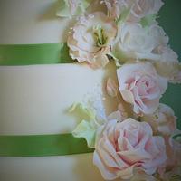 Lucinda & Andrews Wedding cake