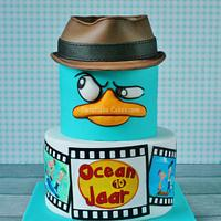 Phineas and Ferb & Perry the platypus cake