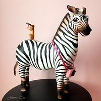 Zebra and Meercat