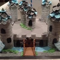 Castle cake, knights, dragons and princesses by Justmunchkins
