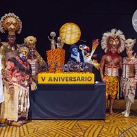 V Aniversary of the Lionking Musical Cake at Madrid
