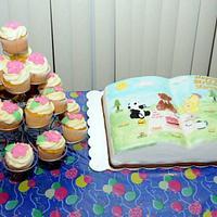8th Birthday Cake & Cup cakes by Saranya Thineshkanth