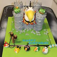 Great White Eagle Angry Bird Cake