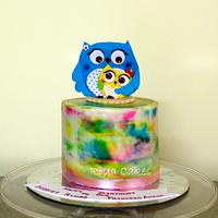 Mamma & baby Owl cake