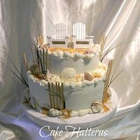 A Beach Wedding Cake