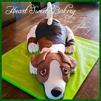 Beagle cake 3D