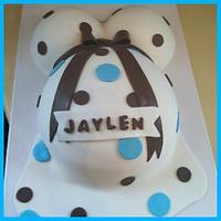 Baby Bump / Baby Shower Cake by Michelle Allen