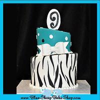 Zebra Birthday Cake
