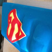 Superman birthday cake by Dell Khalil