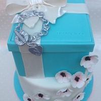 Tiffany two tier cake