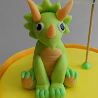 Triceratops cake by iriene wang