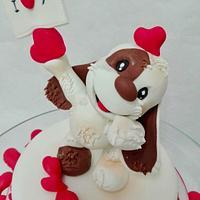 S Valentino cake topper