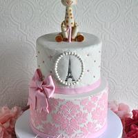 Sophie the Giraffe 1st Birthday Cake