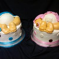 Twin Baby Butt Cakes