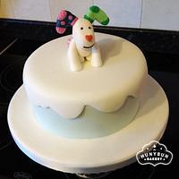 Snow Dog Christmas Cake