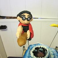 Flying Harry Potter Cake by Margarida Myers