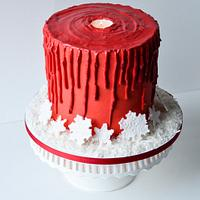 RED CANDLE CAKE