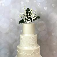 Lily of the vally Wedding cake