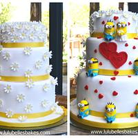 2 in one wedding cake