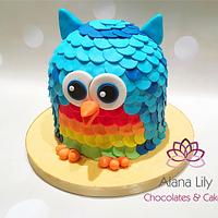 Cute Owl cake For both boys and girls