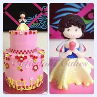 Melina's princess theme birthday cake :)