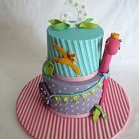 Girly Dino cake