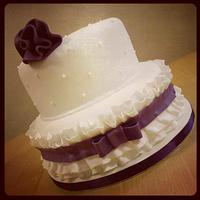 Purple Ruffle Cake