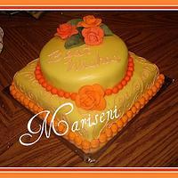 Simple Bridal Shower Cake