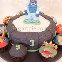 Skylanders Cake board
