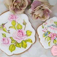 Beautiful Floral Bird Cookies 🕊🌷🌸