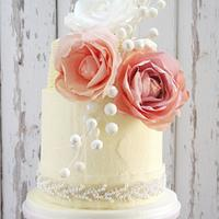 Naomi Frosted Wedding Cake