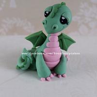 little dragon cake topper