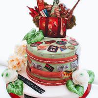 Traveling Ana birthday cake