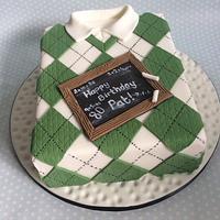 Argyle Sweater Cake