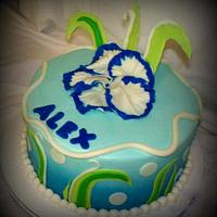 Beach Inspired Birthday Cake