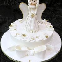 Christmas angel cake.