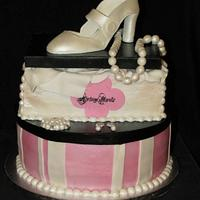 Vinage Shoebox & Hatbox Cake