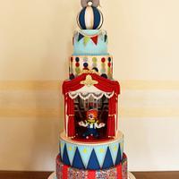"""Circus"" cake"