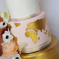 Gold 18-birthday cake