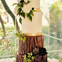 Bride in woodland