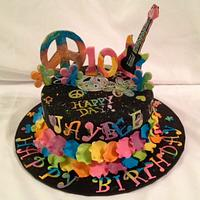 Retro, Funky cool Birthday Cake